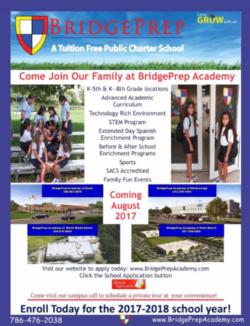 BridgePrep Academy Charter School – NEW LOCATIONS